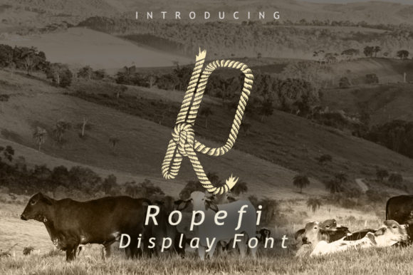 Print on Demand: Ropefi Display Font By leamsign