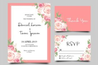 Download Free Rose Flower Wedding Invitation Card Graphic By Bint Studio for Cricut Explore, Silhouette and other cutting machines.