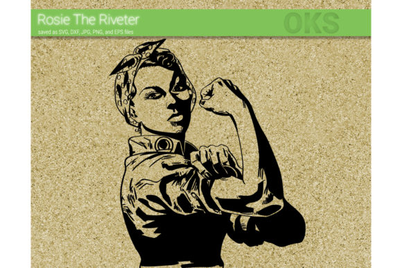 Print on Demand: Rosie the Riveter Svg Vector Graphic Crafts By CrafterOks