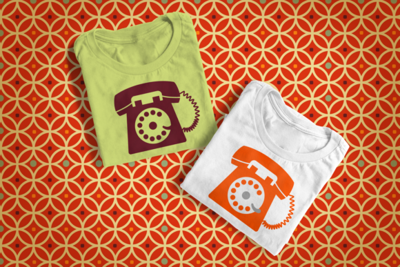 Rotary Phone Graphic Crafts By DesignedByGeeks