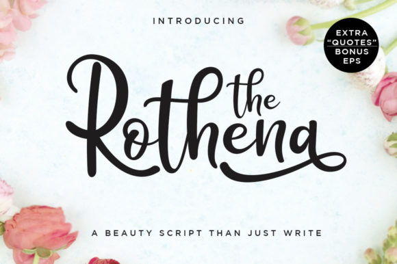 Print on Demand: Rothena Script & Handwritten Font By Haksen