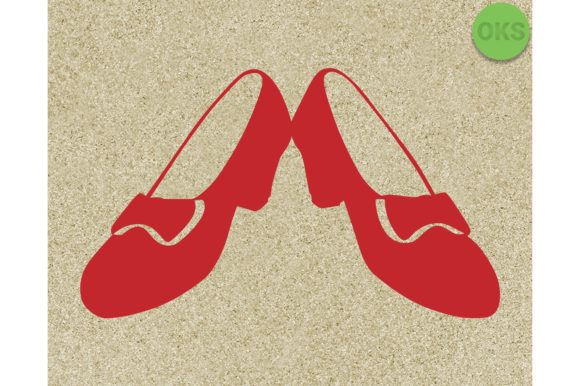 Download Free Ruby Red Slippers Svg Graphic By Crafteroks Creative Fabrica for Cricut Explore, Silhouette and other cutting machines.