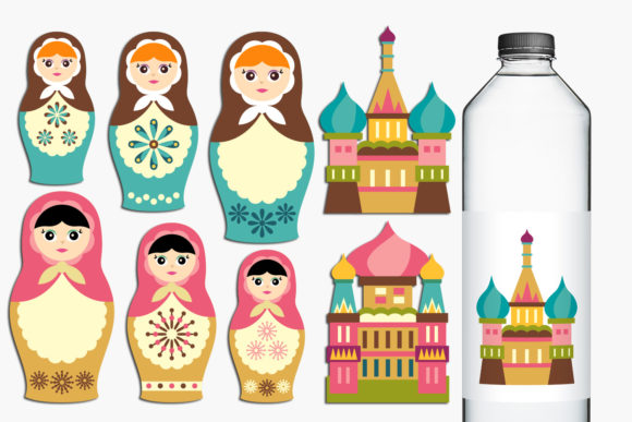 Print on Demand: Russian Nesting Dolls Graphic Illustrations By Revidevi