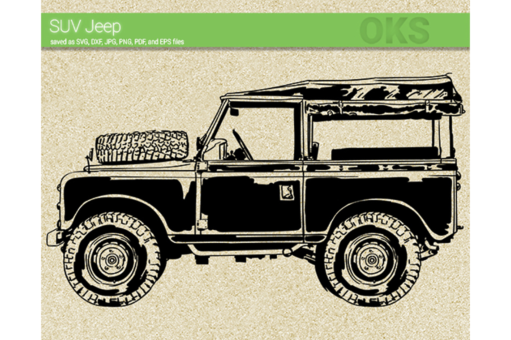 Download Free Suv Jeep Svg Vector Graphic By Crafteroks Creative Fabrica for Cricut Explore, Silhouette and other cutting machines.