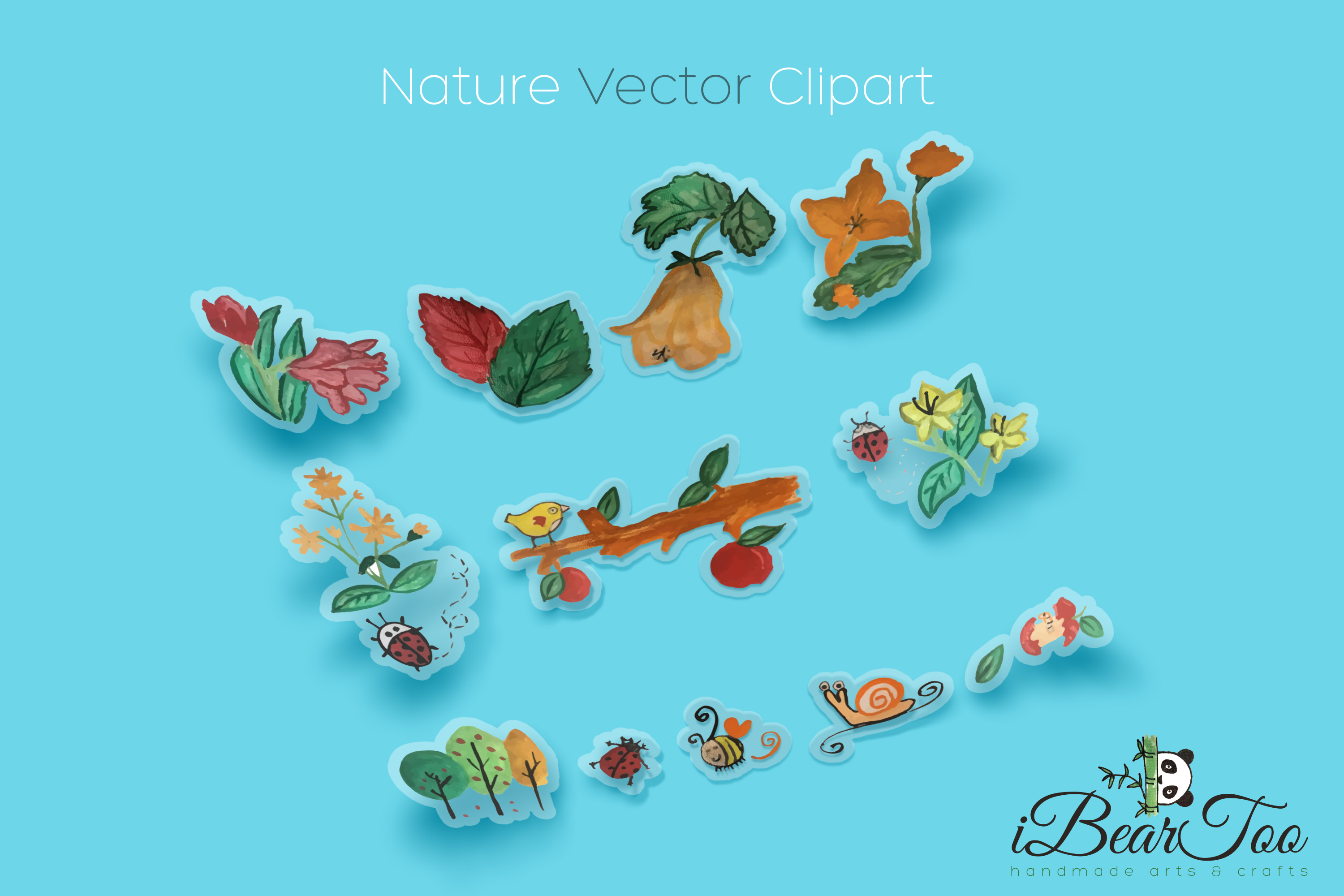 Nature Vector Watercolor Clipart Graphic By Ibeartoo Creative