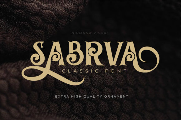 Print on Demand: Sabrva Display Fuente Por Sigit Dwipa