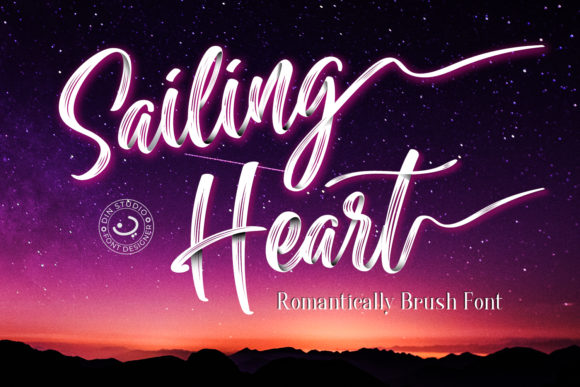 Print on Demand: Sailing Heart Script & Handwritten Font By Din Studio