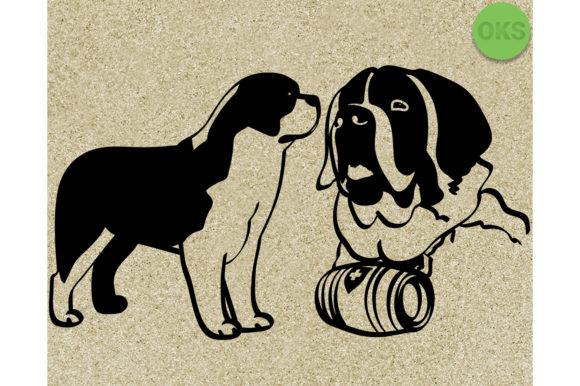Download Free Saint Bernard Svg Graphic By Crafteroks Creative Fabrica for Cricut Explore, Silhouette and other cutting machines.