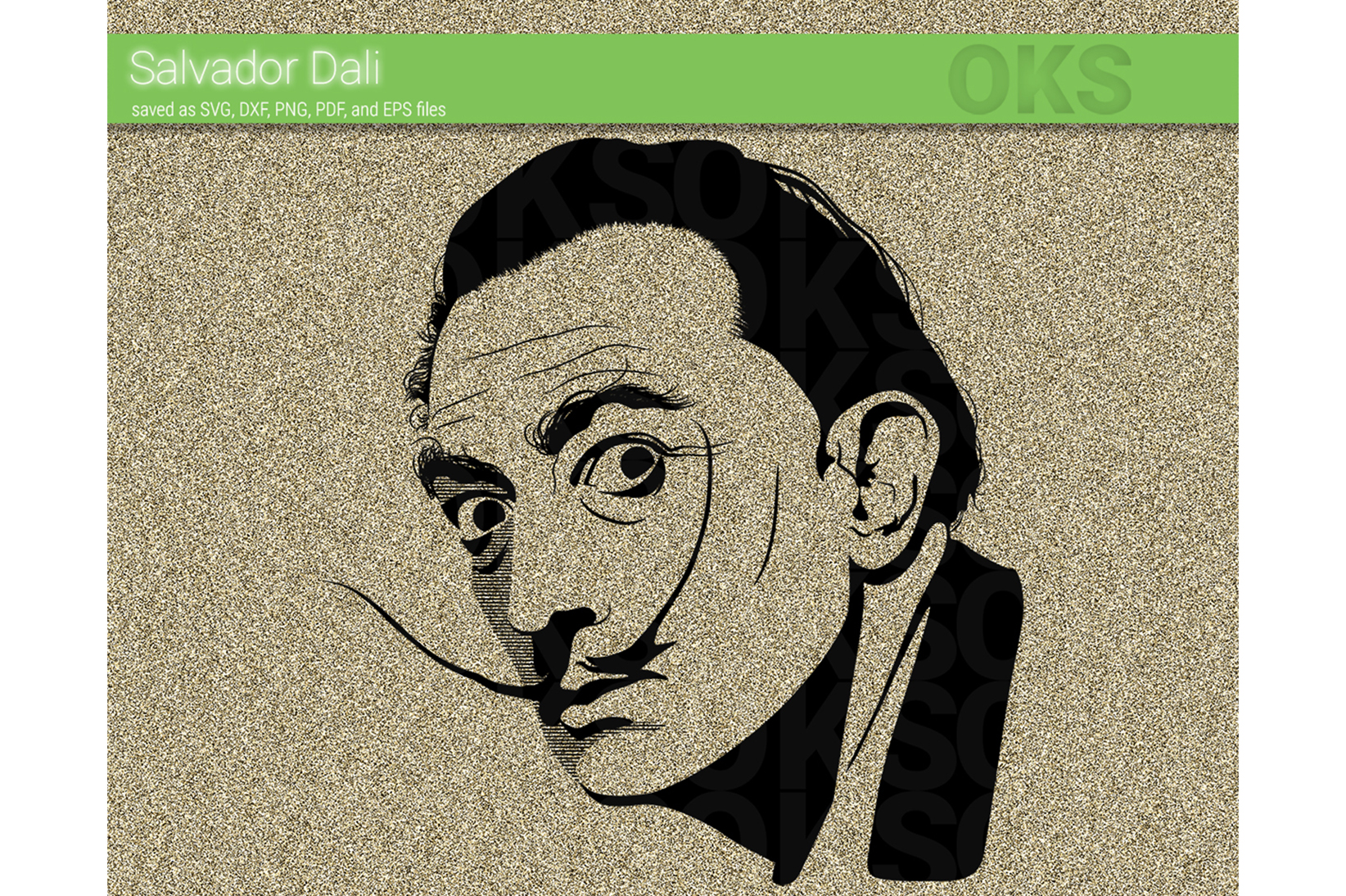Download Free Salvador Dali Svg Vector Graphic By Crafteroks Creative Fabrica for Cricut Explore, Silhouette and other cutting machines.