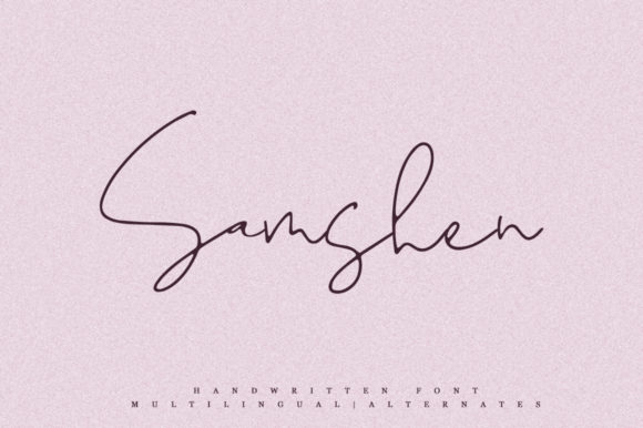 Print on Demand: Samshen Script & Handwritten Font By Katie Holland