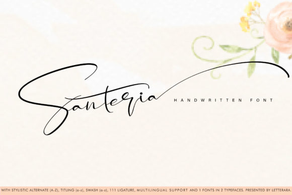 Print on Demand: Santeria Script & Handwritten Font By thomasaradea