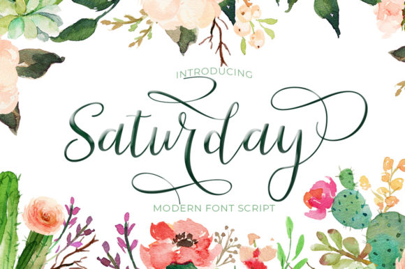 Print on Demand: Saturday Script & Handwritten Font By Posts Type - Image 1