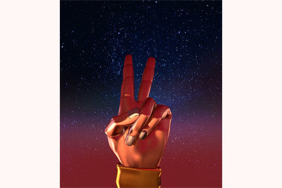 Download Free Scy Fy Concept A Victory Hand Sign Graphic By Milaski SVG Cut Files