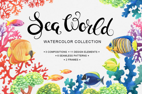 Sea World Watercolor Collection Graphic By Nata Art Graphic