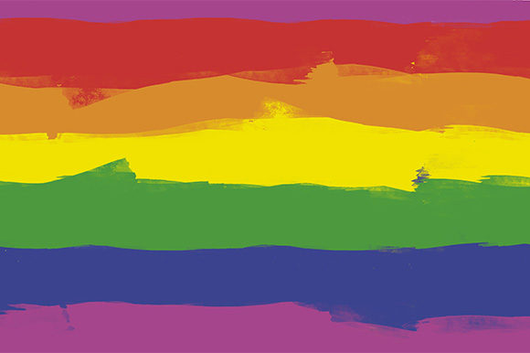 Print on Demand: Seamless Background - LGBTQ Colors Flag Graphic Backgrounds By Milaski