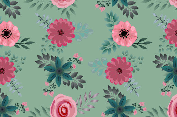 Print on Demand: Seamless Floral Pattern in Modern Graphic Patterns By iop_micro