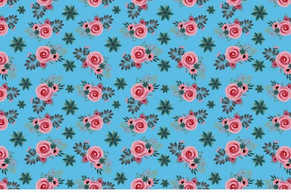 Download Free Seamless Floral Pattern In Vector Graphic By Iop Micro for Cricut Explore, Silhouette and other cutting machines.