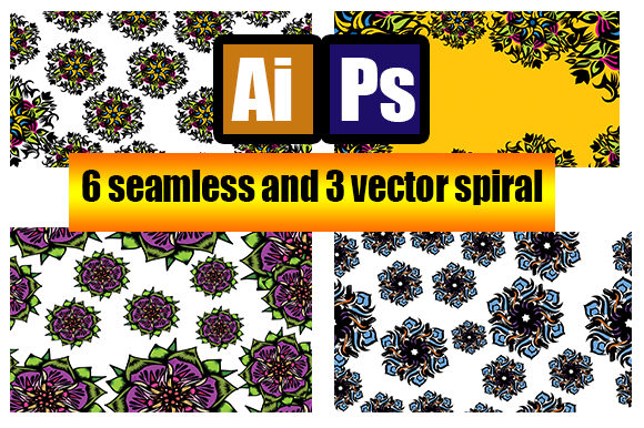Seamless Pattern Flower Art Graphic Patterns By ahmaddesign99 - Image 1