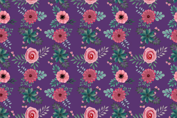 Print on Demand: Seamless Cute Floral Pattern Graphic Patterns By iop_micro
