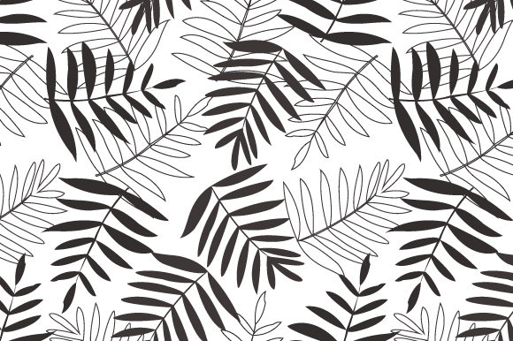Download Free Seamless Floral Tropical Leaf Autumn Graphic By Iop Micro for Cricut Explore, Silhouette and other cutting machines.