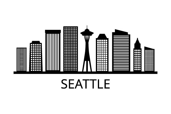 Download Free Seattle Skyline Graphic By Marco Livolsi2014 Creative Fabrica for Cricut Explore, Silhouette and other cutting machines.