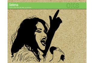 Download Free Selena Quintanilla Vector Graphic By Crafteroks Creative Fabrica for Cricut Explore, Silhouette and other cutting machines.