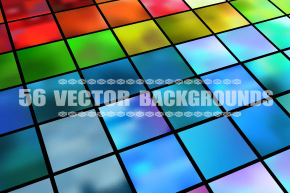 Print on Demand: Set of 56 Vector Backgrounds Graphic Crafts By AlexZel