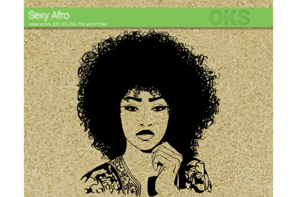 Print on Demand: Sexy Afro Vector Graphic Crafts By CrafterOks