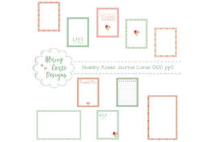 Shabby Rose Journal Cards Graphic By MarcyCoateDesigns