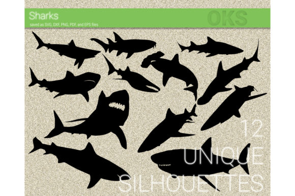Print on Demand: Sharks Vector Graphic Crafts By CrafterOks