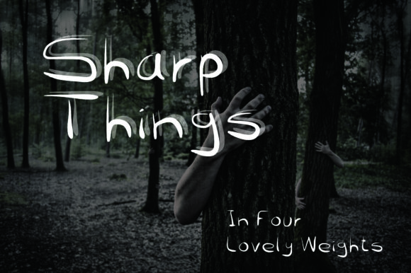 Print on Demand: Sharp Things Script & Handwritten Font By GraphicsBam Fonts