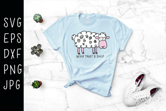 Sheep SVG Graphic Illustrations By carrtoonz - Image 1