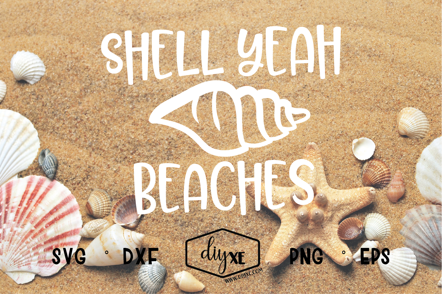 Download Free Shell Yeah Beaches Graphic By Sheryl Holst Creative Fabrica for Cricut Explore, Silhouette and other cutting machines.