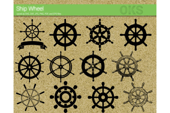 Print on Demand: Ship Wheel Svg Vector Graphic Crafts By CrafterOks