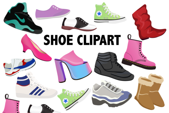 Print on Demand: Shoe Clipart Graphic Illustrations By Mine Eyes Design