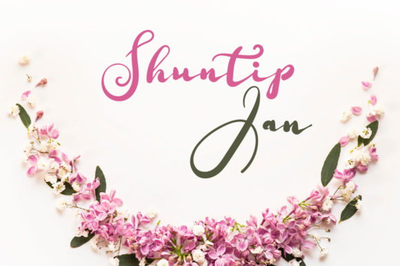 Print on Demand: Shuntip Jan Script & Handwritten Font By Autumn Designs