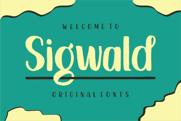 Print on Demand: Sigwald Display Font By goodjavastudio