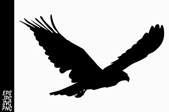Print on Demand: Silhouette Eagle Vector Graphic Crafts By Arief Sapta Adjie