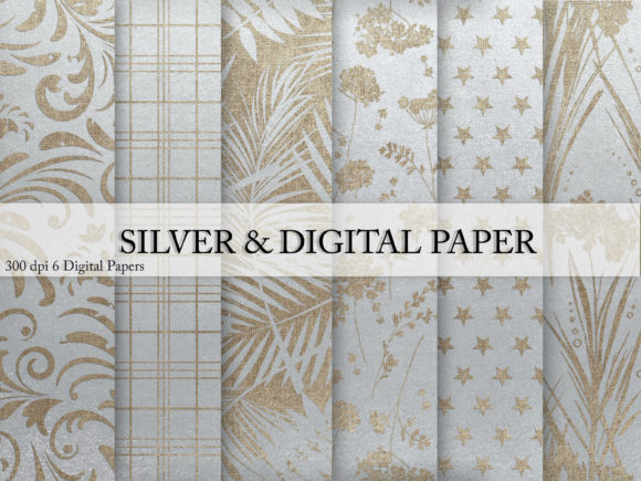 Download Free Silver Digital Paper Graphic By Creative Paper Creative Fabrica for Cricut Explore, Silhouette and other cutting machines.