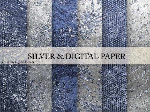 Print on Demand: Silver & Digital Paper Graphic Textures By Creative Paper