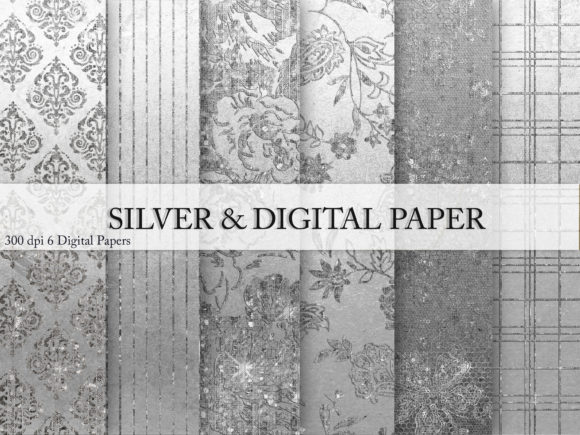Silver & Digital Paper Graphic By artisssticcc Image 1