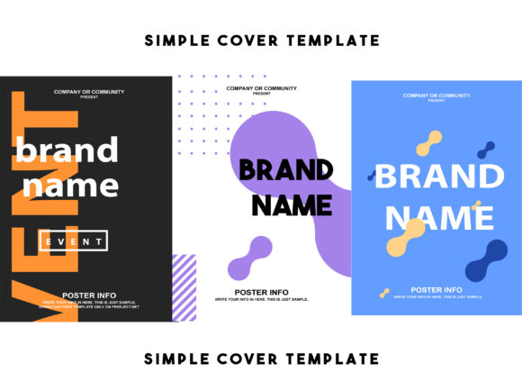 Simple Cover Template Graphic By Ahmad Bahauddin