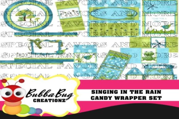 Singing in the Rain Candy Wrapper Set Graphic Crafts By BUBBABUG