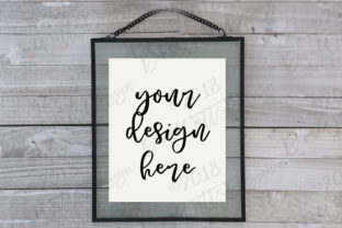 Single Floating Frame in White Graphic Product Mockups By Diva Watts Designs