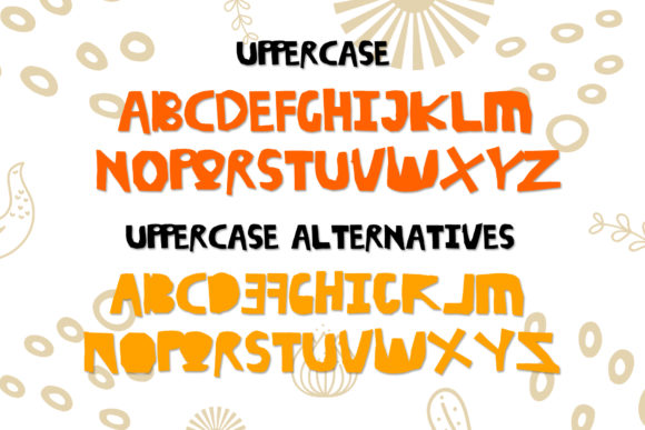 Print on Demand: Skit Cut Display Font By dmletter31 - Image 6