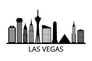 Download Free Skyline Las Vegas Graphic By Marco Livolsi2014 Creative Fabrica for Cricut Explore, Silhouette and other cutting machines.