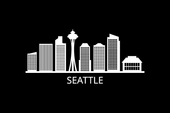 Print on Demand: Skyline Seattle Graphic Illustrations By marco.livolsi2014