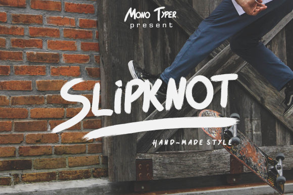 Print on Demand: Slipknot Script & Handwritten Font By Arendxstudio