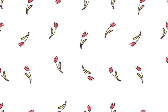 Download Free Small Floral Tulips Pattern Seamless Graphic By Iop Micro for Cricut Explore, Silhouette and other cutting machines.