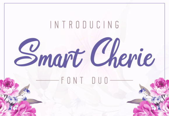 Print on Demand: Smart Cherie Duo Script & Handwritten Font By pandanwangi